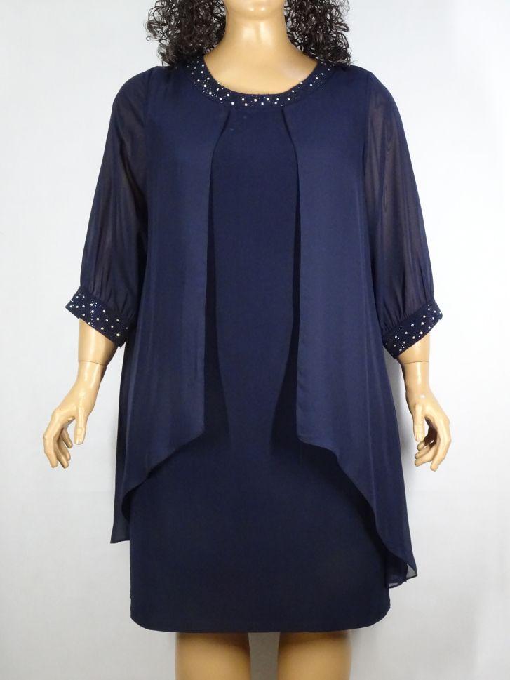 26985644c78 Макси Мода: Дамска официална къса рокля големи размери с камъчета 05 ...